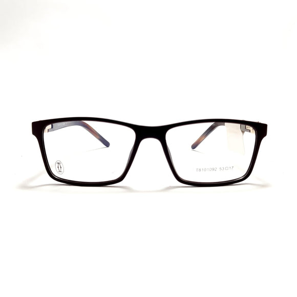 كارتيه EyeGlasses Rectangle lanse For Men - T8101092