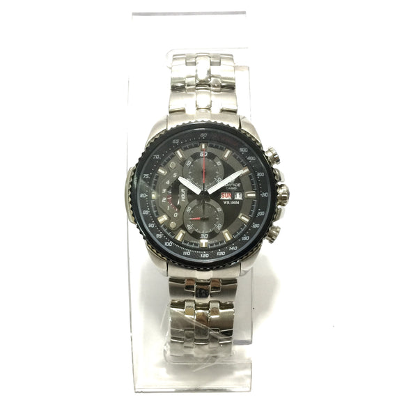 كاسيو Round Stainless Steel  Watch