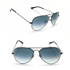 ريبان - Aviator SteelBlue in Black Sunglasses BR3025