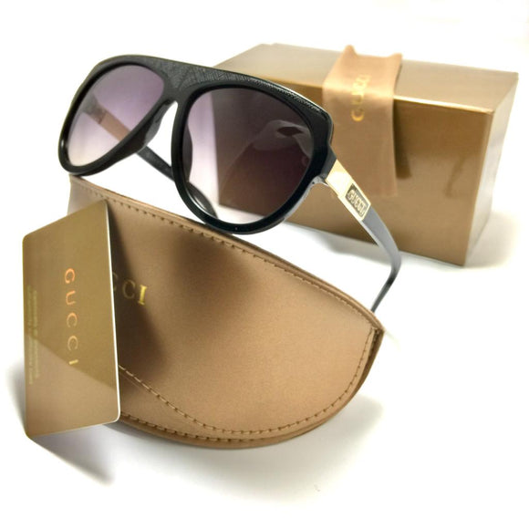 جوتشي  Black frame for men sunglasses gg450