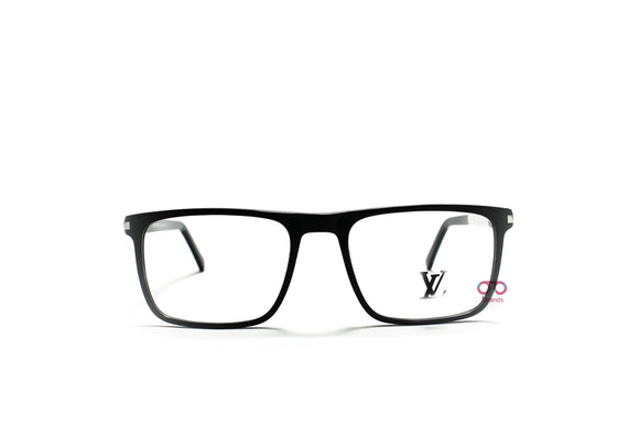 لويس فيتون black Rectangle eyeglasses for men A1154