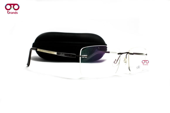 سيلوت  Rectangle Lensses with Metal Sides Eyeglasses 6664#