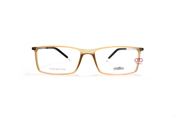سيلوت Rectangle frame with Metal Sides Eyeglasses s1123#