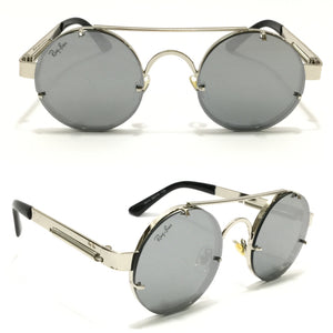 ريبان -Round Grey Unisex sunglasses