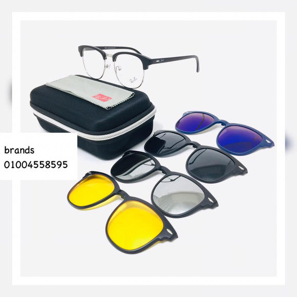 5 in 1 ريبان Sunglasses Polarized clips