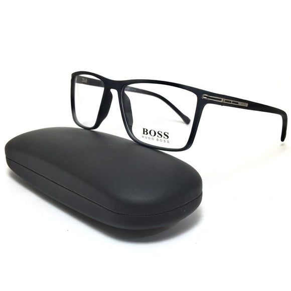 BOSS - squared frame men eyeglasses - بوس