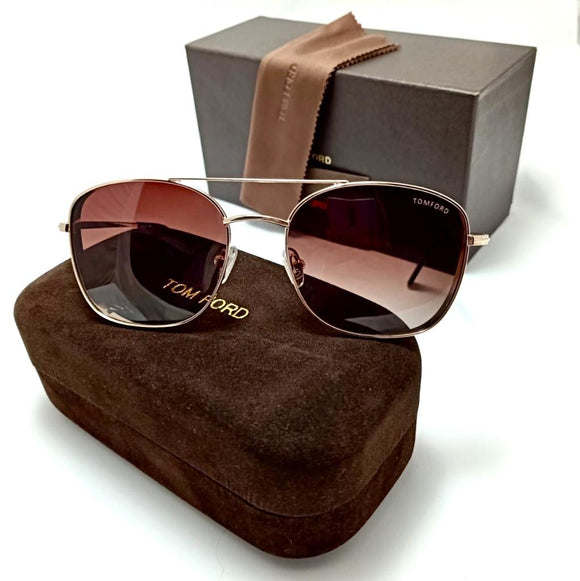 squared brown lens-for men -توم فورد