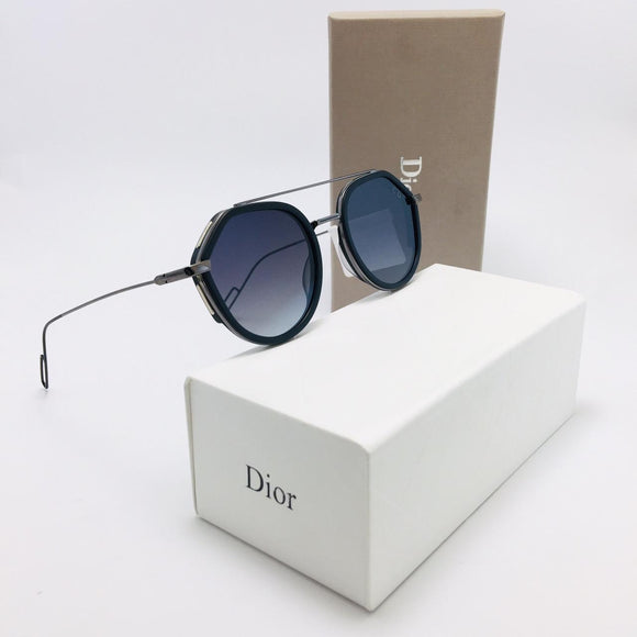 ديور  -  OVAL Frame - men Sunglasses -double bridge-0219S