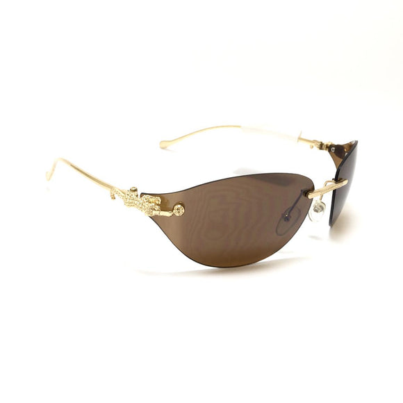 كارتيه - Brown Women Sunglasses bb223