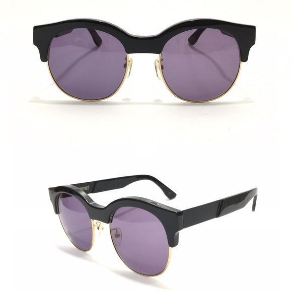 جنتل مونستر Oval Sunglasses Half Black Frame Sunglasses For Women