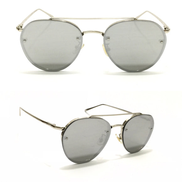 جنتل مونستر Grey Lens with Silver metal sides Sunglasses For Unisex
