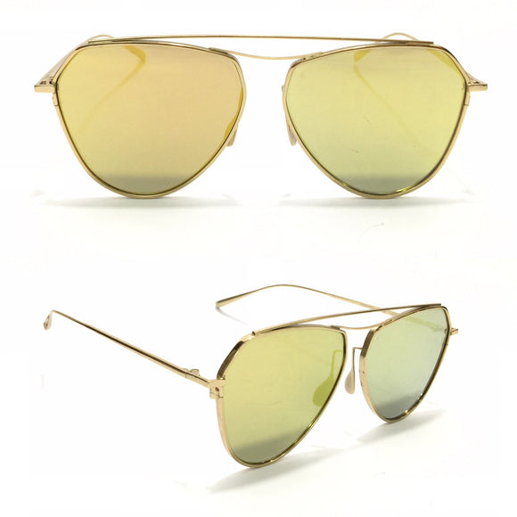 جنتل مونستر Sunglasses with Golden Frame and Metal Sides Sunglasses for Women
