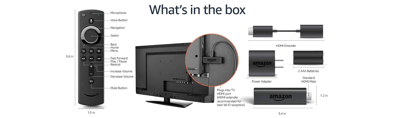 What's in the Box of Amazon Fire TV Stick