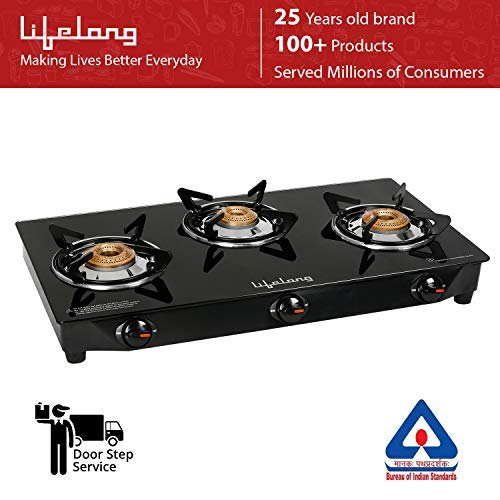 Lifelong 3 Burner Gas Stove