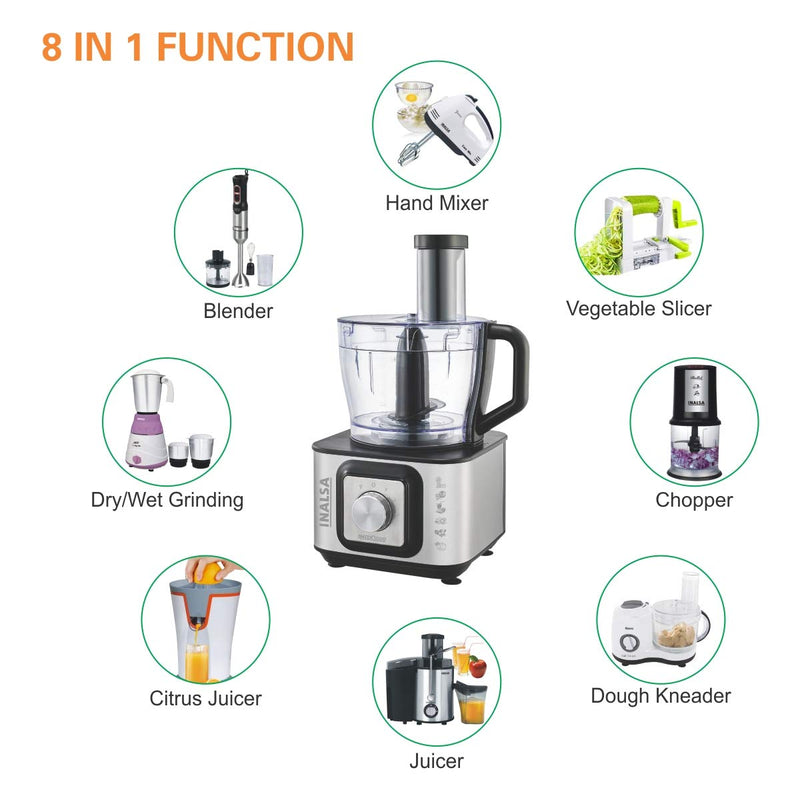Inalsa INOX 1000 Watt Food Processor