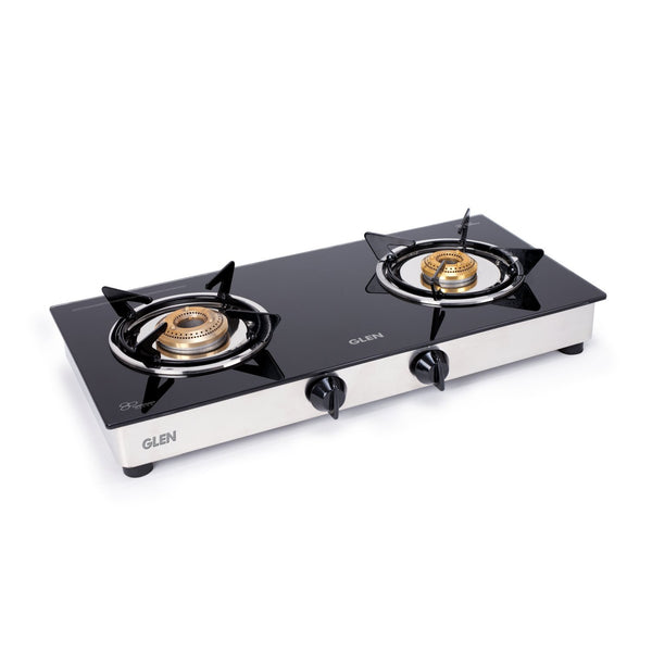 Glen 2 Burner ISI LPG Gas Stove 1020 GT Junior Brass Burners