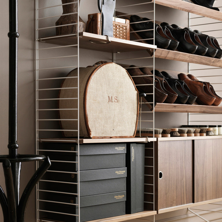 Magazine Shelf Wood (Revistero sólido) 78/30/15 Walnut (Pack de 1)