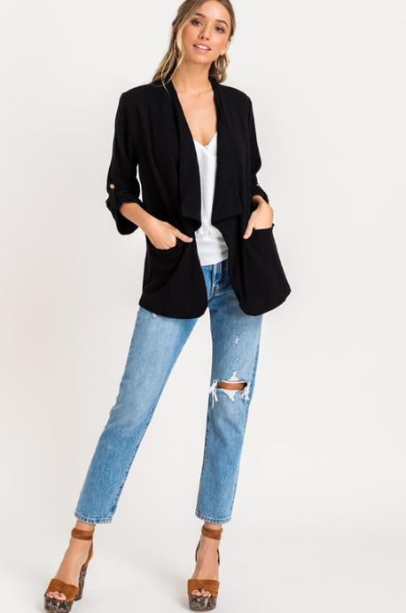 Billie Blazer Jacket - Black