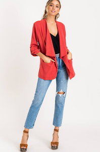 Billie Blazer Jacket - Paprika