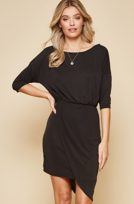 Posh Surplice Dress