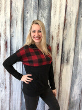 Load image into Gallery viewer, Plaid Mock Neck Pullover Sweater