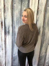 Load image into Gallery viewer, Janelle Brushed Rib Sweater - Grey