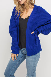 Drop Shoulder Oversized Cardigan