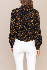 Isabel Twist Knotted Crop Blouse