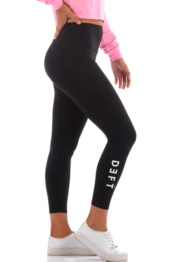 Deft Actv Women's Everyday Leggings - Black - deftcollection.com