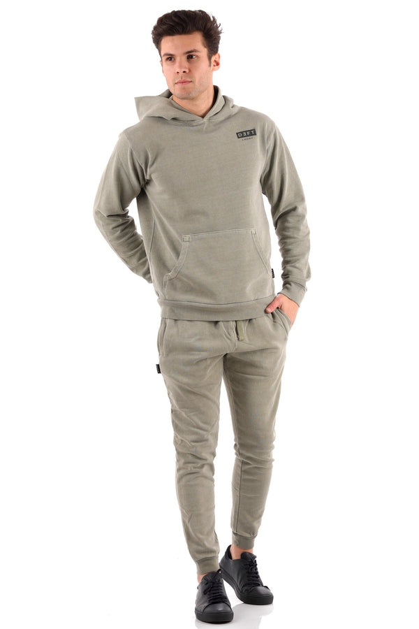 Deft Lndry Mens Hood - Army Green - deftcollection.com