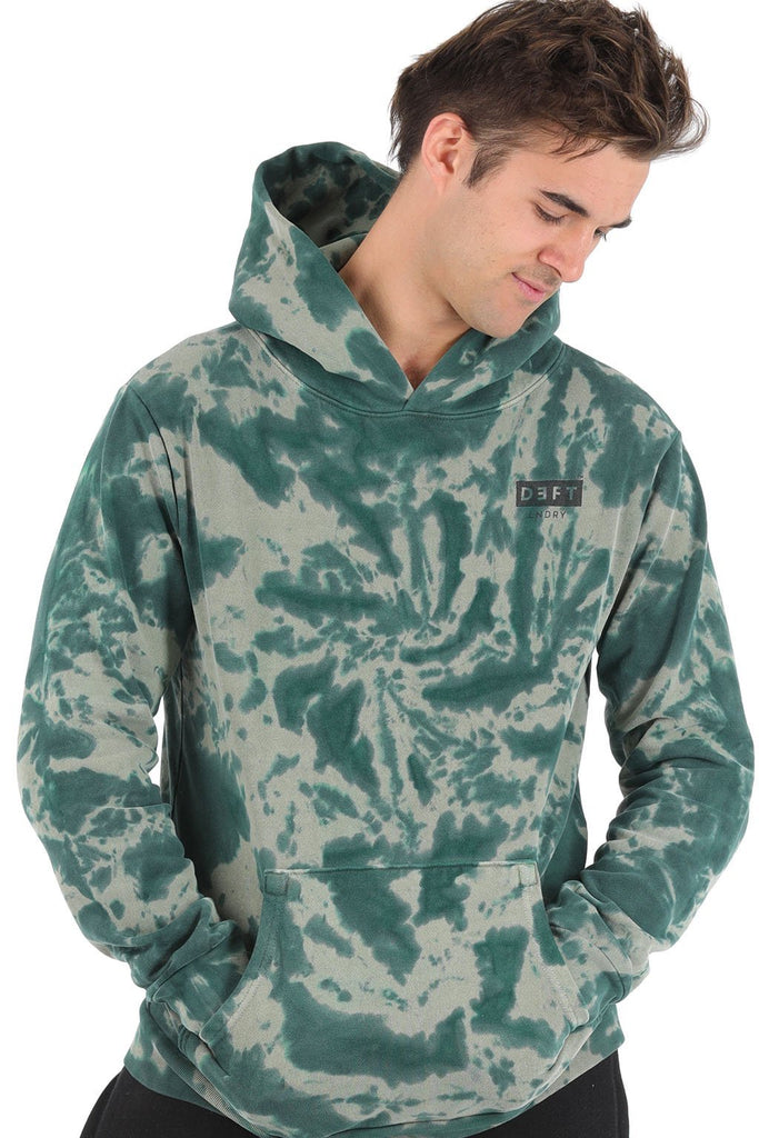 Deft Lndry Mens Hood - Toffee Apple Tie Dye - deftcollection.com