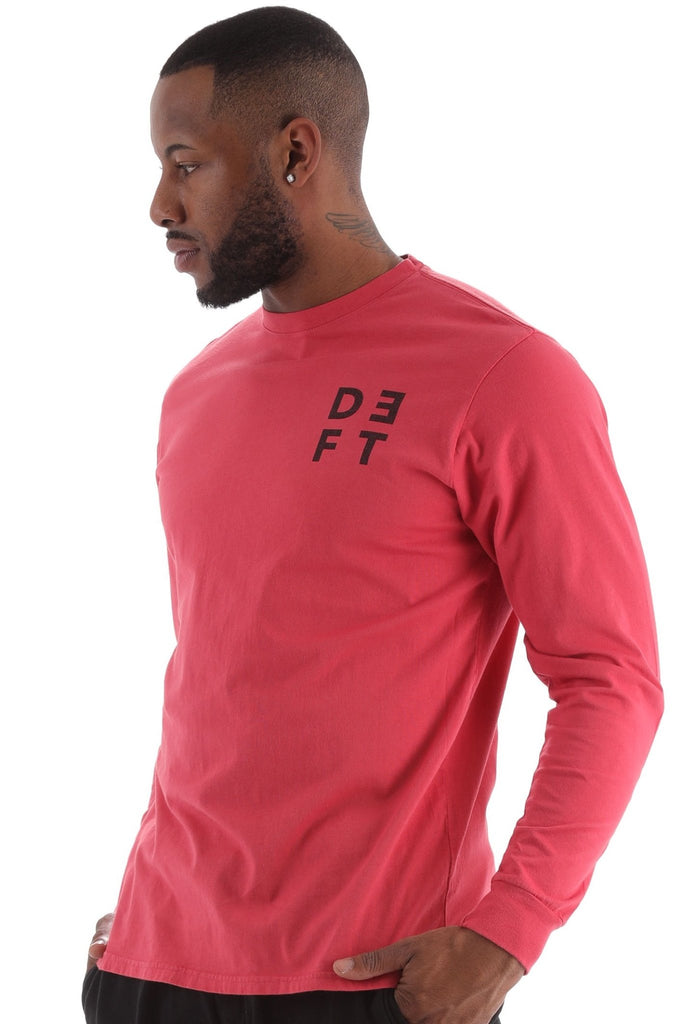 Deft Lndry Men's Long Sleeve T-Shirt - Melon - deftcollection.com