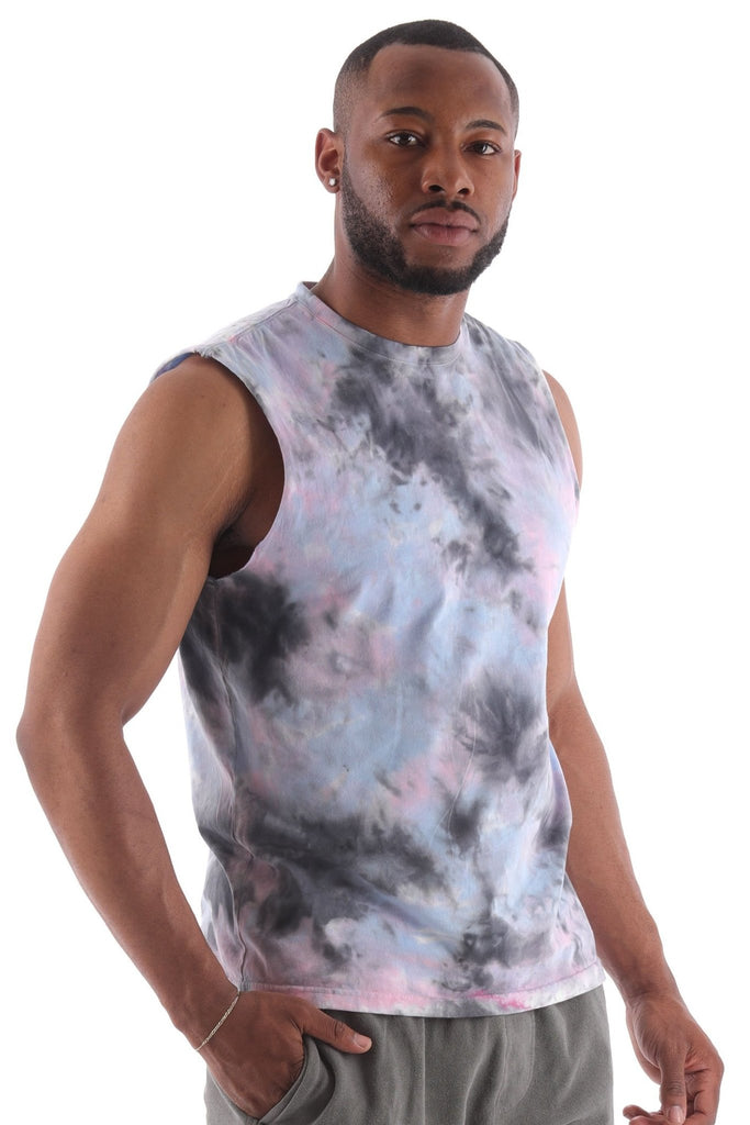 Deft Lndry Men's Muscle T-Shirt - Sunset Passion - deftcollection.com