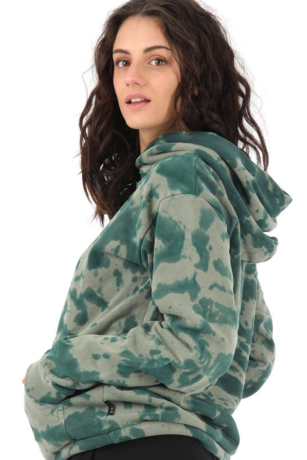 Deft Lndry Oversized Women's Hood - Toffee Apple Tie Dye - deftcollection.com