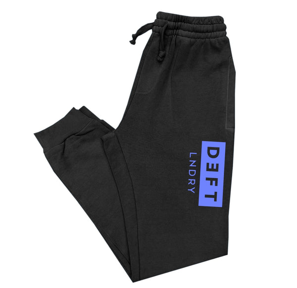 Deft Lndry Track Pants - Black / Purple - deftcollection.com
