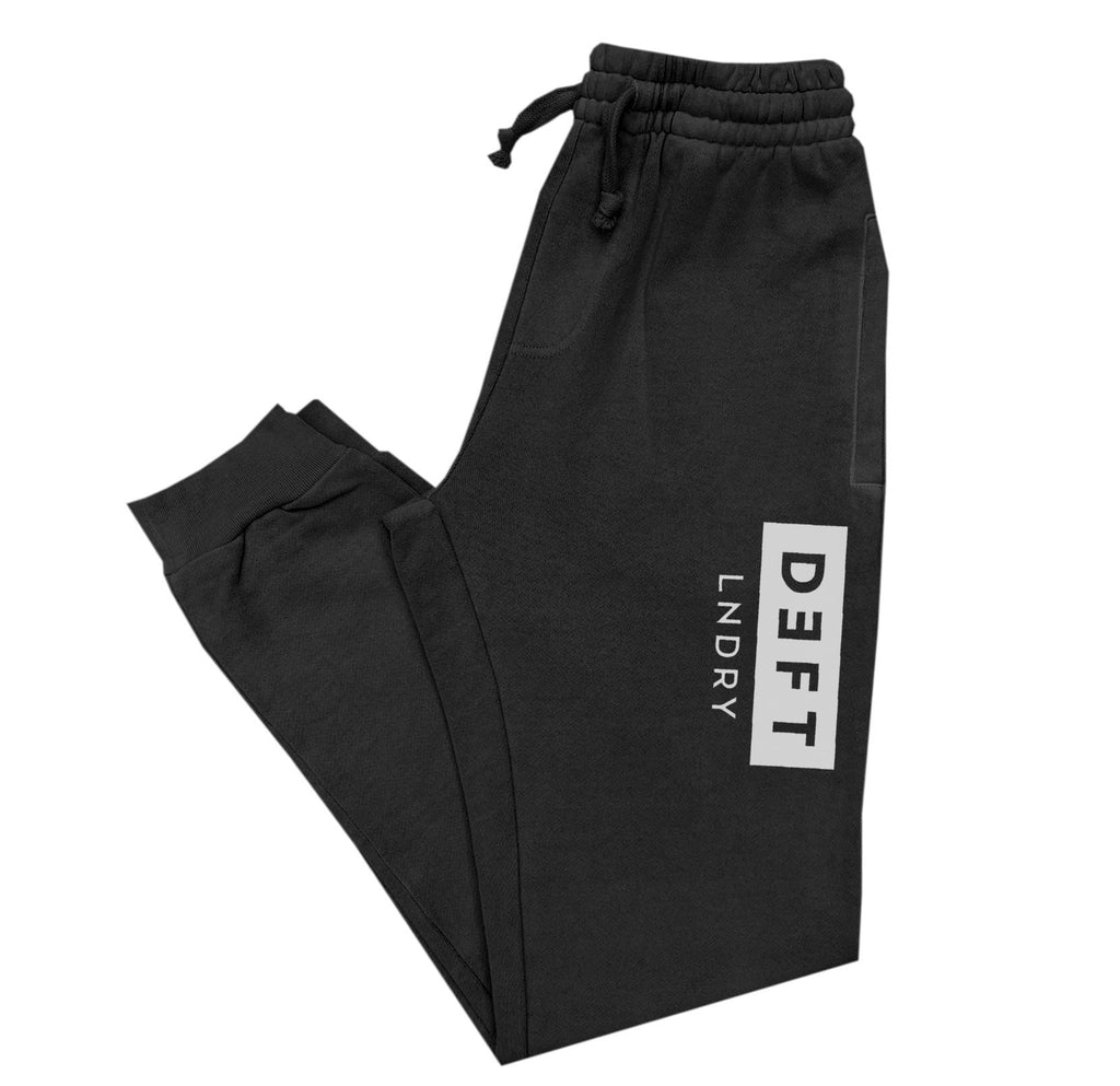 Deft Lndry Track Pants - Black / White - deftcollection.com