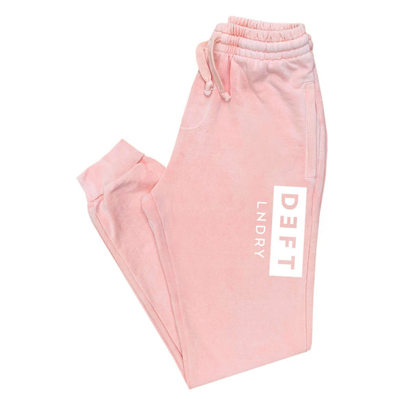 Deft Lndry Track Pants - Pastel Pink / White - deftcollection.com