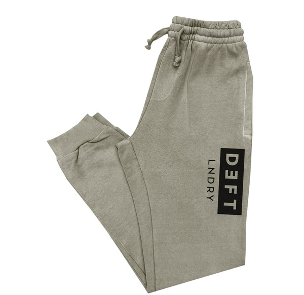 Deft Lndry Track Pants - Vintage Army / Black - deftcollection.com