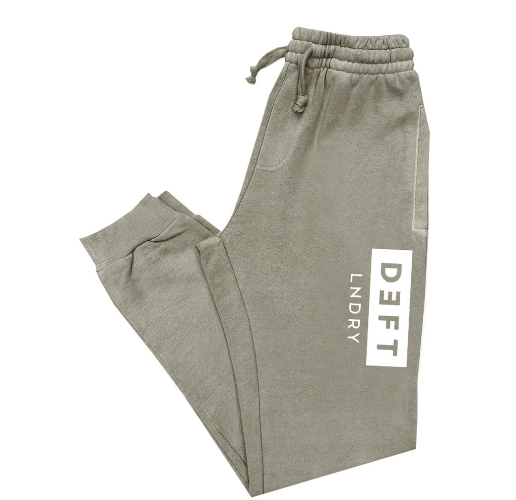 Deft Lndry Track Pants - Vintage Army / White - deftcollection.com