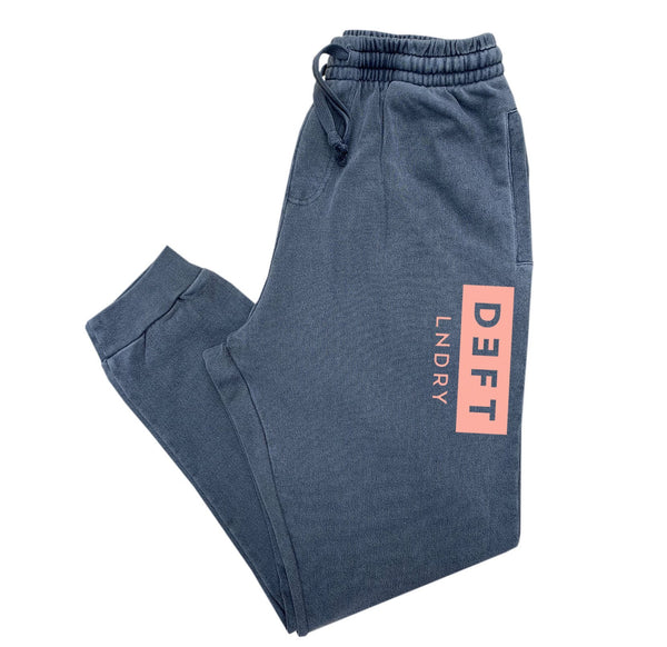 Deft Lndry Track Pants - Vintage Navy / Pastel Orange - deftcollection.com