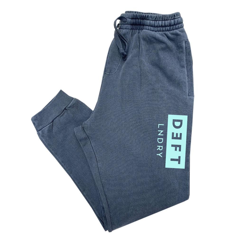 Deft Lndry Track Pants - Vintage Navy / Teal - deftcollection.com