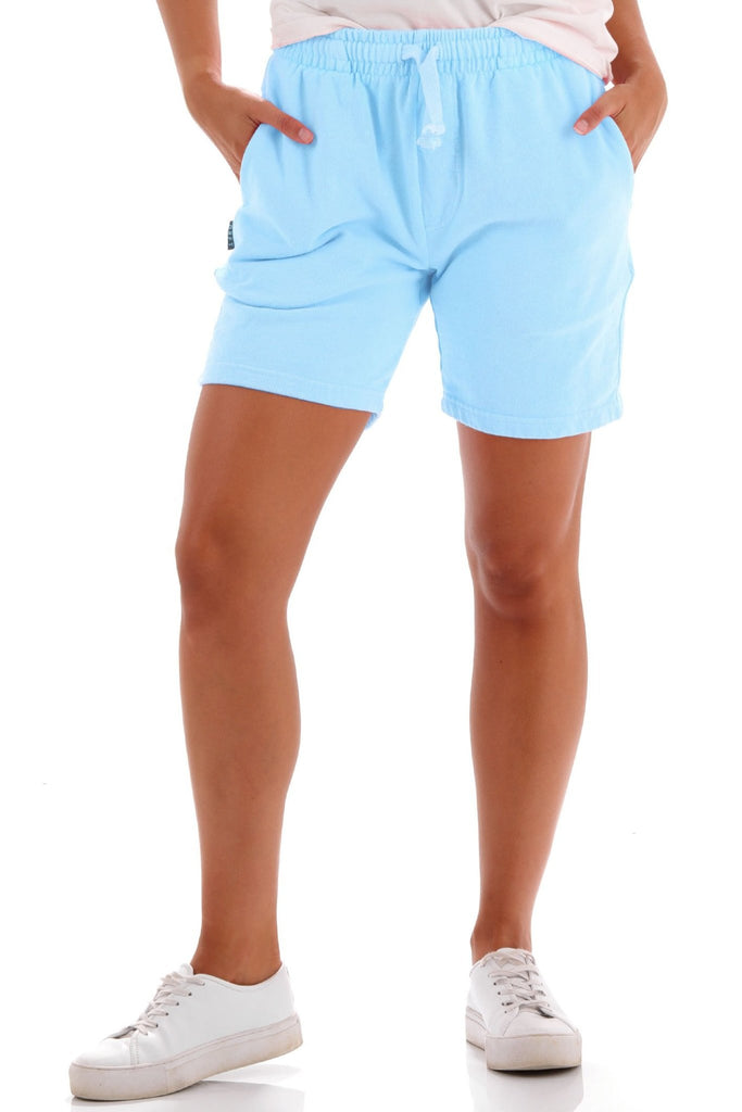 Deft Lndry Track Shorts - Fluoro Blue - deftcollection.com