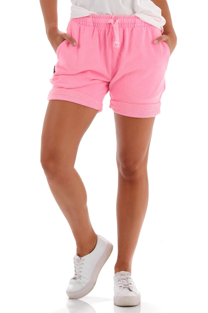Deft Lndry Track Shorts - Fluoro Pink - deftcollection.com