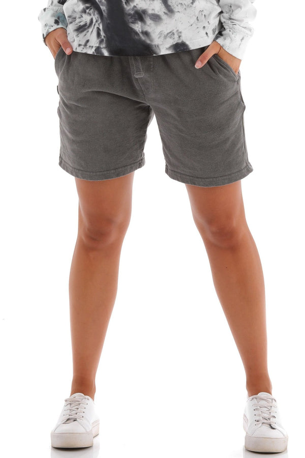 Deft Lndry Track Shorts - Pigment Black - deftcollection.com