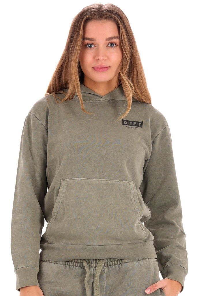 Deft Lndry Women's Hood - Army Green - deftcollection.com