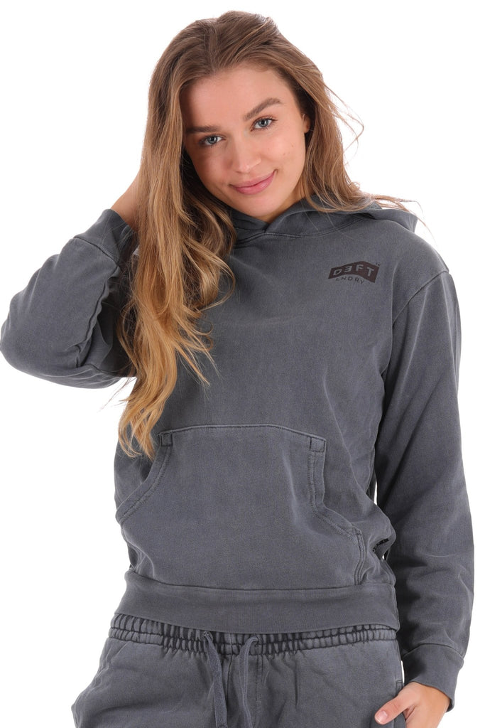 Deft Lndry Women's Hood - Vintage Navy - deftcollection.com