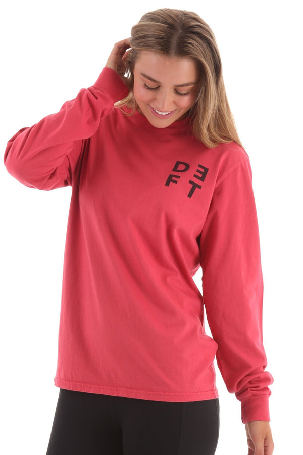 Deft Lndry Women's Long Sleeve T-Shirt - Melon - deftcollection.com