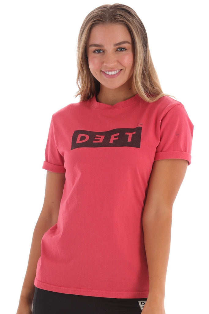 Deft Lndry Women's T-Shirt (Relaxed Fit) - Melon - deftcollection.com