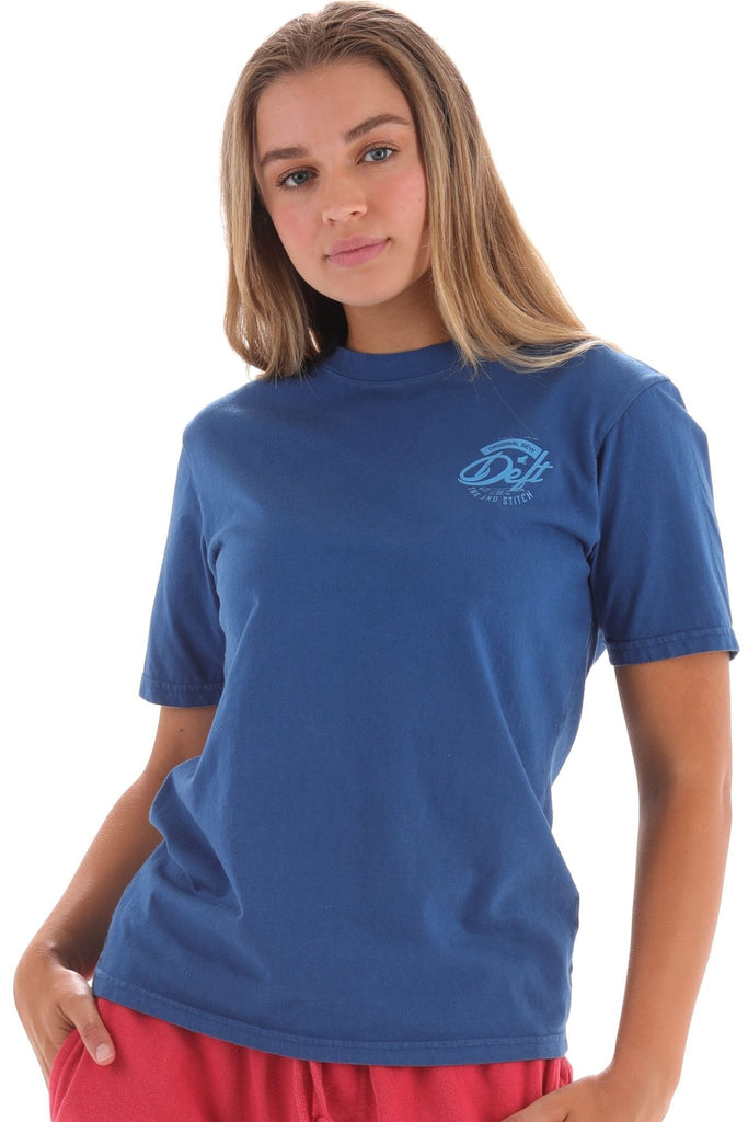 Deft Lndry Women's T-Shirt (Relaxed Fit) - Royal Blue - deftcollection.com