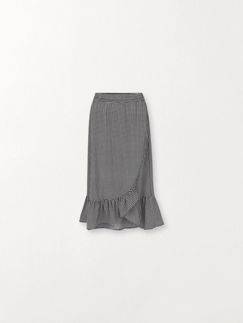 Becksöndergaard, Check Chleo Skirt - Black, outlet flash sale, outlet flash sale